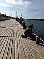 Onkikisat Kaskisen satama-alueella. Silakkaa tuli saavikaupalla. - panoramio.jpg