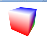 OpenGL Tutorial Cube primary colors.png