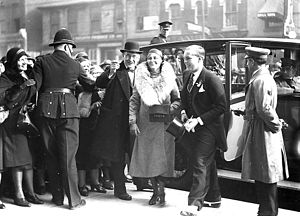 John David Eaton - Eaton arriving with his mother at the opening of Eaton's College Street store in 1930