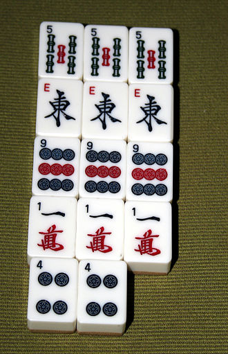American mahjong - Mahjong tiles with Latin letters and Arabic numerals added for an American audience