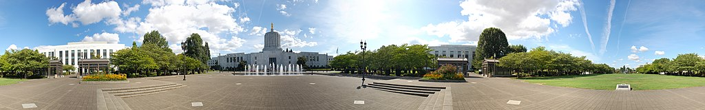 Oregon State Capital Buildings panorama