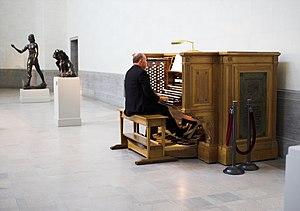 Spreckels Organ - Console of the Spreckels Organ.