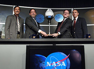 Crew Exploration Vehicle - NASA Constellation officials announcing the selected Orion contractor Aug. 31, 2006, at NASA Headquarters