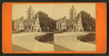 Ornate gothic building in cemetery(?), from Robert N. Dennis collection of stereoscopic views.png