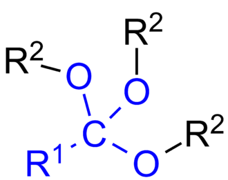 Orthoester - The general formula of orthoesters.