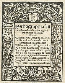 History of Polish orthography