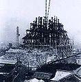Osaka Castel tower reconstruction 1930.jpg