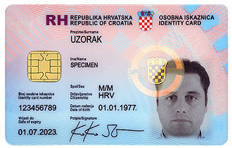 Identity document - Croatian ID card specimen