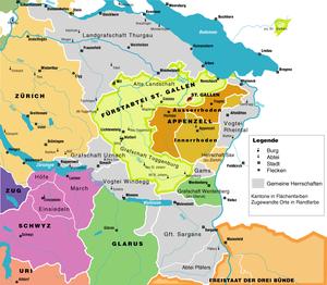 Canton of Linth - Image: Ostschweiz 1798
