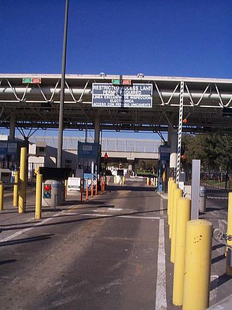 Secure Electronic Network for Travelers Rapid Inspection - SENTRI lane at Otay Mesa in 1997