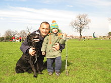 Outdoor recreation for a dog, a child and a man.jpg