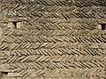 Périers-sur-le-Dan (14) détail d'un mur en arête-de-poisson.JPG
