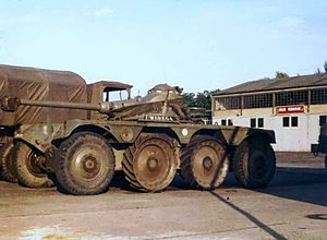 1st Spahi Regiment - A reconnaissance armoured tank of the 1st Spahi Regiment in 1978.