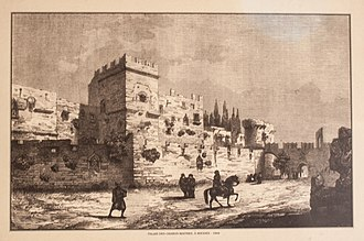 Palace of the Grand Master of the Knights of Rhodes - Image: Palace of the Grand Masters of Rhodes, 1844