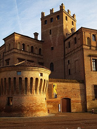 "Carpi, Emilia-Romagna - The town hall, housed by ""Palazzo dei Pio""."