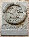 Palazzo vicariale di certaldo, cortile, stemma tedaldi.JPG