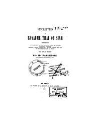 Jean-Baptiste Pallegoix: Description du royaume Thaï ou Siam