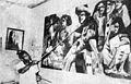Palomino dando retoques al mural realizado en Monterrey, México en 1975.jpg