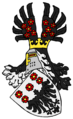 "Eagle decapitate (without head), coat of arms of German nobility von der Hoven, alias: ""Pampus""."