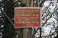 Panneau de réglementation de la pêche (truite) à Mollon.JPG