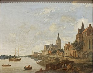 The Rhine at Emmerich with St. Martin's Church