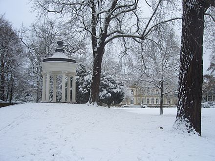 The Büsing-Park in winter