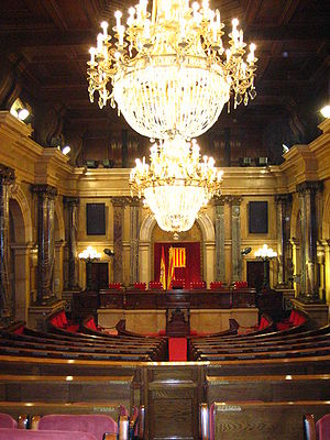 Parliament of Catalonia - Session chamber of the Palace of Parliament of Catalonia.