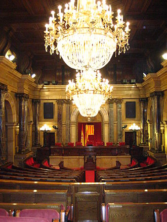 Parliament of Catalonia - Image: Parlament de Catalunya hemicicle