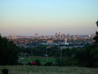 area of open parkland in the south-east corner of Hampstead Heath, London, England
