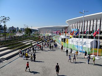 Barra Olympic Park - Ground-level view of the surrounding environment outside the Carioca Arenas.