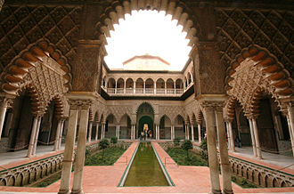Seville - Courtyard of the Maidens in the Alcázar of Seville