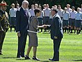 Patsy Reddy greets Abdullah II of Jordan.jpg