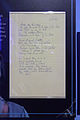 Paul Simon's Handwritten Lyrics - Diamonds on the Soles of Her Shoes - Rock and Roll Hall of Fame (2014-12-30 12.53.00 by Sam Howzit).jpg