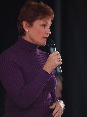 Right-wing populism - Pauline Hanson, leader of One Nation