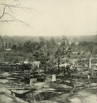 Battle of Peachtree Creek - Union graves close to where the soldiers fell after the Confederates under John B. Hood attacked at Peachtree Creek