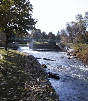 Pefferlaw, Ontario - The Pefferlaw Dam, located just south of downtown