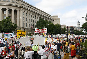 Tea Party Tax Protest in Washington DC 2009