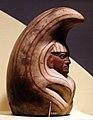Perù, moche, contenitore in ceramica a forma di divinità-zucca soprannaturale, 100-800 ca., dalla regione di ancash.jpg