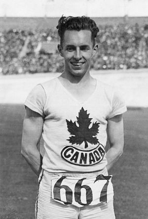 Percy Williams (sprinter) - Percy Williams at the 1928 Olympics