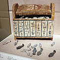 Periodo tardo xxv dinastia, scatola di ushabty di ditamenpaankh, 715-656 ac ca.jpg