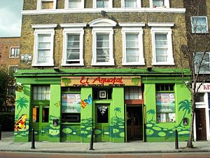 Peruvian migration to the United Kingdom - A Peruvian restaurant near Dalston, Greater London