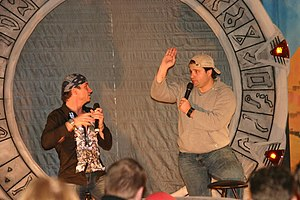 Peter DeLuise - Colin Cunningham and DeLuise, at GermanCityCon on December 12, 2004
