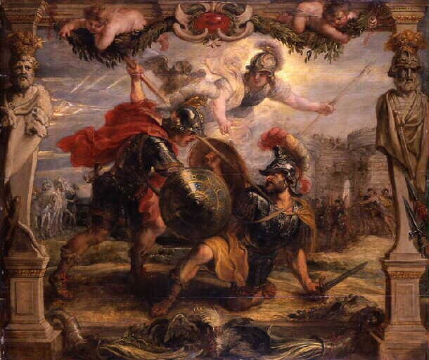 Peter Paul Rubens - Achilles slays Hector