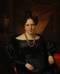 Portret van vrouw uit geslacht Bernet