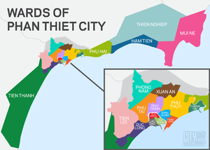 Phan Thiet Wards Map