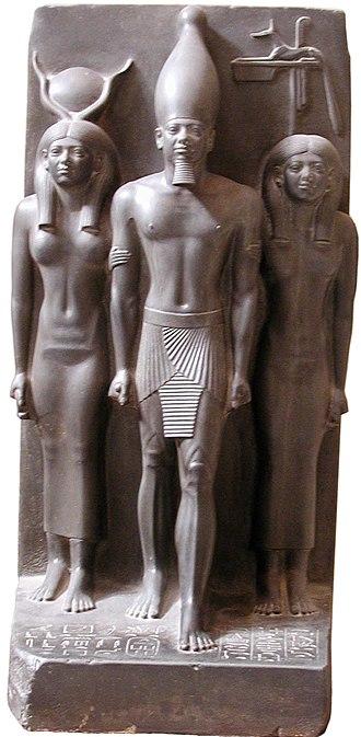 Anput - Hathor, Pharaoh Menkaura, and Anput