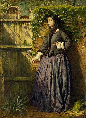 1856 in art - Image: Philip Hermogenes Calderon Broken Vows Ashmolean Museum