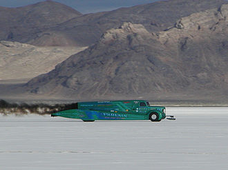 Bonneville Speedway - Phoenix Diesel Truck running at Bonneville, August 2003