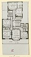 Photograph, Photograph of a Floor Plan of an Apartment Building Designed by Hector Guimard (No. 9), 1911 (CH 18387435-2).jpg