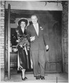 Photograph of Gerald R. Ford, Jr., and Betty Ford Walking Out of Grace Episcopal Church in Grand Rapids, Michigan... - NARA - 186888.tif
